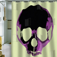Amy Smith Pink Skull Shower Curtain