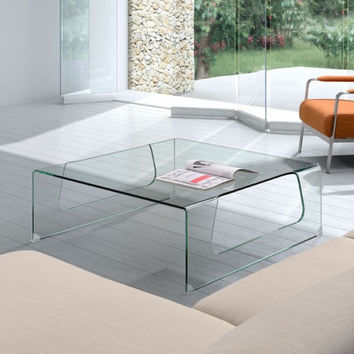 Campaign Glass Table
