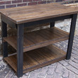 Kitchen Island, Rustic Kitchen Island, Kitchen Island, Black with plank top