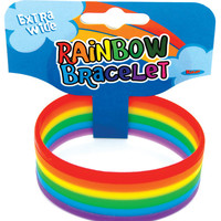 Thick Rainbow Rubber Band Bracelet 1""