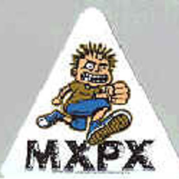 MXPX Vinyl Sticker Cartoon Guy Triangle
