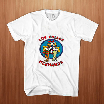 Los Pollos Hermanos shirt men  Break Bad  t-shirt Jesse Pink  tee meth Patrick Stump white