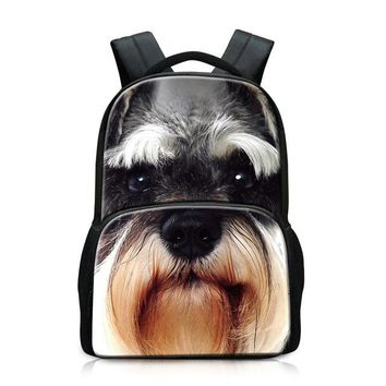 Cool Backpack school Teenagers School Bags Animal Dog Pattern  for Boys Wolf Schoolbags Book Bags for Girls Tiger Owl Laptop back pack AT_52_3
