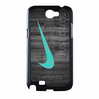 Nike Mint Just Do It Wooden Samsung Galaxy Note 2 Case