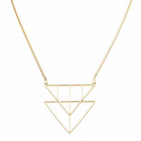 ZENZII Double Trouble Triangle Necklace