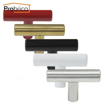 Probrico Stainless Steel Single Hole Kitchen Cabinet T Bar Knob Diameter 12Mm 50Mm Furniture Drawer Handle Pull