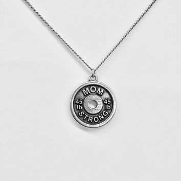 Mom Strong Weight Necklace