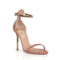 Valentino - Soft Hazel/Gold Leather Sandals