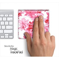 Abstract Pink Floral Skin for the Apple Magic Trackpad