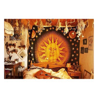 Sun and Moon Indian Bedspread Wall Hanging Tapestry Bedspread Hippie W – TheNanoDesigns