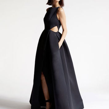 Satin Faille Cutout Gown