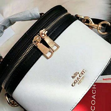 Coach High Quality New Fashionable Women Leather Handbag Tote Shoulder Bag Cosmetic Bag Crossbody Satchel White