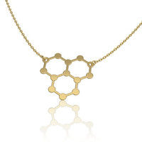Ice hydro molecule | ice necklace | science jewelry | chemistry necklace -unique necklace water molecule h2o molecule