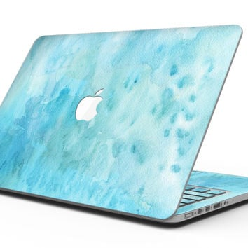 Mixed Teal 56 Absorbed Watercolor Texture - MacBook Pro with Retina Display Full-Coverage Skin Kit