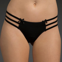 Cage Back Multi Ribbon Panty