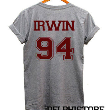 ashton irwin shirt 5 seconds of summer t-shirt sport grey printed unisex size (DL-65)