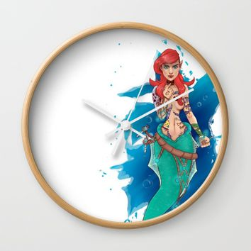 Tales of a little mermaid Wall Clock by DontBelieveTheTales