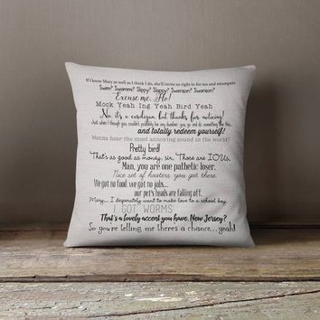 Dumb & Dumber movie quote pillow cover 18x18inch - movie quotes - washable pillow cover - fiber arts - home textiles - eco inks