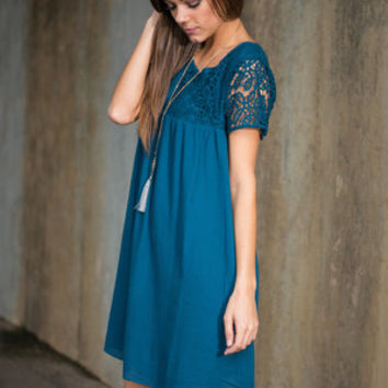 Stunning Out Of Time Dress, Dark Teal