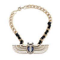 TORY - Asymmetric Stone Wing Necklace