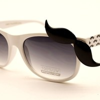 Cool Stuff - 80s Wayfarer Party Sunglasses W Mustache W168 (blue, uv400)