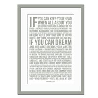 If by Rudyard Kipling - Poetry Quote Poster - Motivational Print - Inspirational Quote - Graduation Gift - Typographic Print - Dorm Wall Art