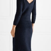 Prada - Mohair-blend midi dress