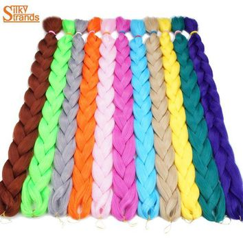 LMF78W Silky Strands 82inch 165g Crochet Kanekalon Braiding Hair Jumbo Braids Blonde Synthetic Hair Extensions 1pack/Lot