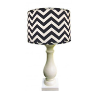 Dark Navy Column Lamp