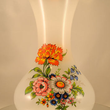 Vase,  Vintage Large Flower Vase by Giftcraft Toronto, Centerpiece, Arrangement Holder