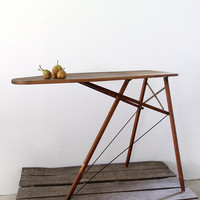 Vintage Ironing Board / Wood Ironing Table
