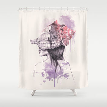 Inside my shell Shower Curtain by EDrawings38