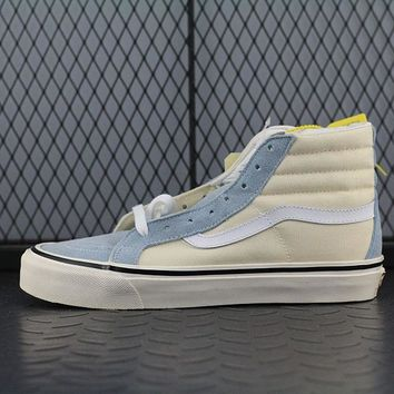 Vans SK8 Hi 38 DX Fashion Canvas Flats Sneakers Sport Shoes Beige