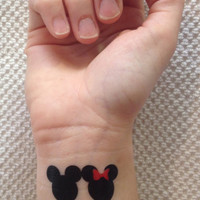 Mickey & Minnie Temporary Tattoos (3-pack)