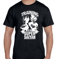 Dragon Ball Z Vegta And Goku Training To Go Super Saiyan T Shirt