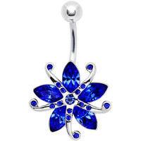 Ocean Blue Gem STARFISH Belly Ring | Body Candy Body Jewelry