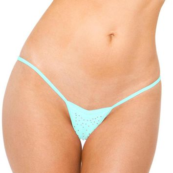 V Front Thong (One Size,Turquoise)