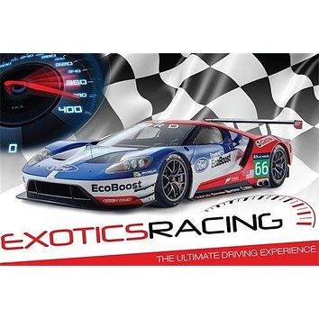 colorful dynamic EXOTIC RACING CAR poster ULTIMATE DRIVING EXPERIENCE 24X36