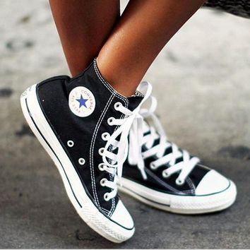 One-nice™ Adult Leisure Converse All Star Sneakers High-Top Leisure shoes Black