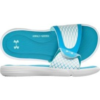 Under Armour Women's Ignite V Slide - Blue/White | DICK'S Sporting Goods
