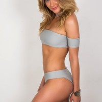 Soah Swimwear - Ivy Bottom in Grey