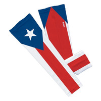 Puerto rico arm sleeve (Single, S/M, Red/White/Blue)  (No Refunds - No Exchanges)