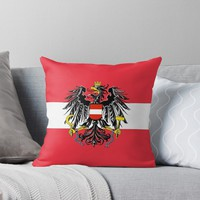 'AUSTRIA BUNDESADLER' Throw Pillow by planetterra