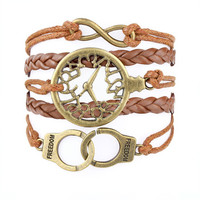 KUIYA brand new Copper 2014 hot sale vintage leather handcuffs handmade fashion jewelry woven bracelet wholesale free shipping-in ID Bracelets from Jewelry on Aliexpress.com   Alibaba Group