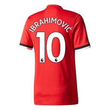 Manchester United Home Authentic Adizero Ibrahimovic Jersey 2017 / 2018 (Authentic EPL Printing)