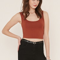 Cotton-Blend Crop Top | Forever 21 - 2000169681