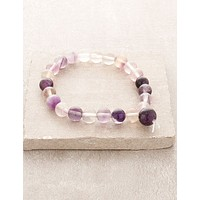 High-Energy Rainbow Fluorite Wrist Mala