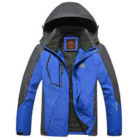 Outdoor Spring & Autumn Men L-8XL Waterproof Jacket Camping Hiking Jackets Hunting Climbing Windproof Fishing Sports Windbreaker
