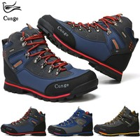 Men Breathable Outdoor Hiking Shoes Camping Mountain Climbing Hiking Boots Men Waterproof Sport Fishing Boots Trekking Sneakers