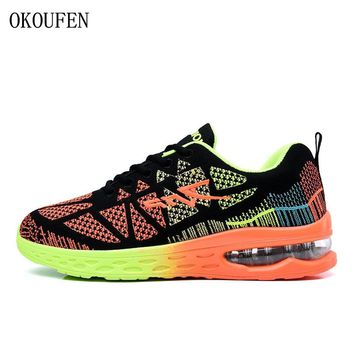 OKOUFEN men's running shoes women's sports sneakers breathable mesh athletic walking shoes size 35-44 for outdoor sports jogging